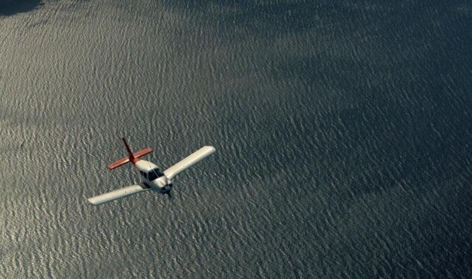 Avión de Panamedia durante el vuelo